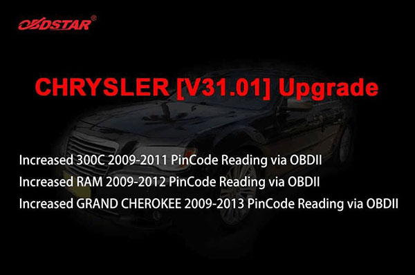 chrysler pin code reading upgrade