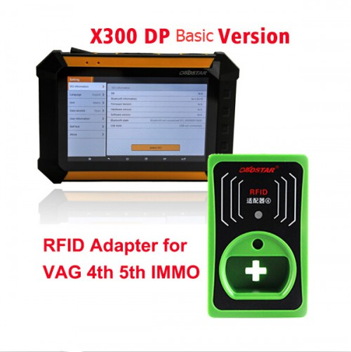 OBDSTAR X300 DP PAD Android Tablet Basic Version Plus IMMO RFID Adapter for VAG 4th 5th GEN