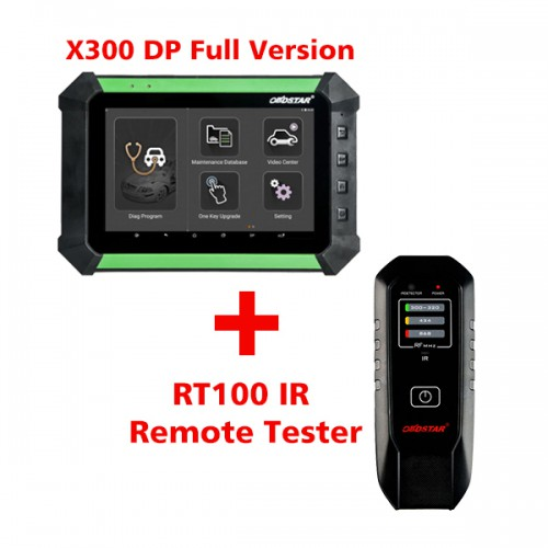 (Value Bundles) Free Shipping by DHL! OBDSTAR X300 DP Full Configuration Plus RT100 Remote Tester Frequency Infrared IR