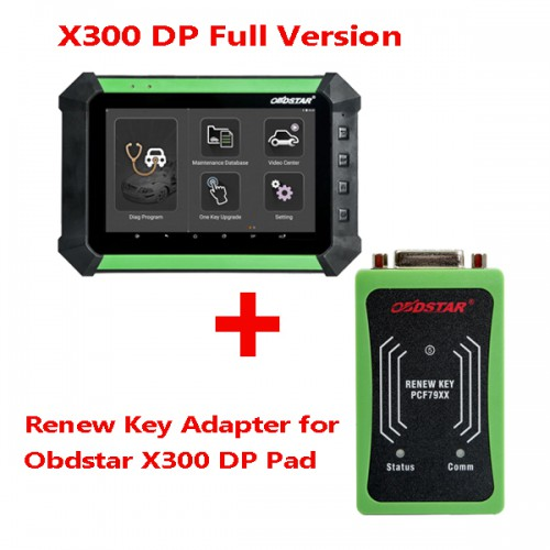 (Value Bundles) OBDSTAR X300 DP Full Configuration Plus Renew Key Adapter PCF79XX Chip