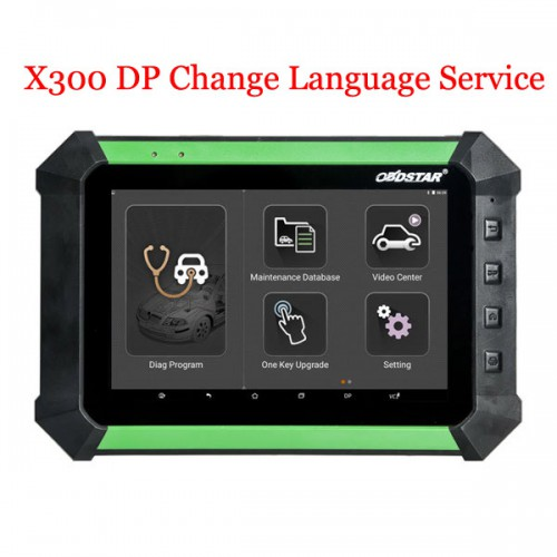 OBDSTAR X300 DP Key Master Change Language Service Turkish, Thai, Portuguese, French, Russian