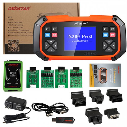 [New Year Sales] [US No Tax] OBDSTAR X300 PRO3 Key Master Full Configuration Support Toyota G&H Chip All Key Lost+Odometer Adjustment