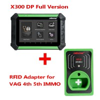 (Ship from US/UK No Tax) OBDSTAR X300 DP PAD Full Configuration Plus RFID Adapter for VW AUDI SKODA SEAT 4th & 5th IMMO