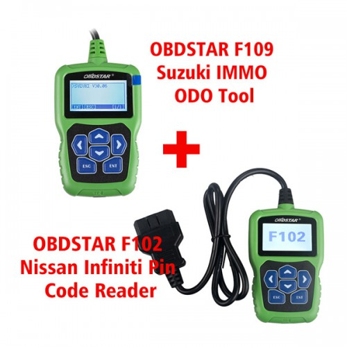 [US No Tax] OBDSTAR F102 Nissan/Infiniti PIN Code Reader plus F109 Suzuki PIN Code Calculator
