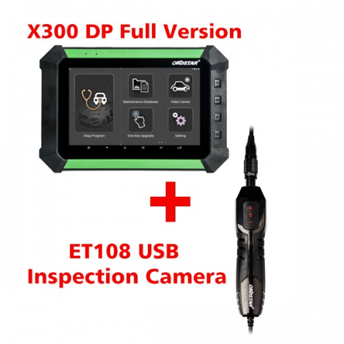 (Value Bundles) Free Shipping by DHL! OBDSTAR X300 DP Full Configuration Plus ET-108 USB Inspection Camera