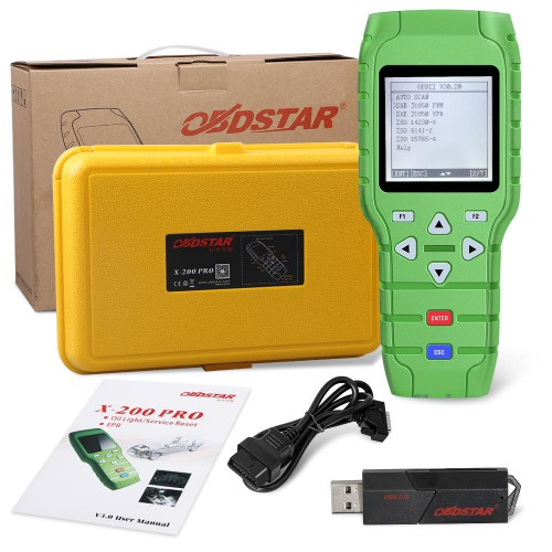 Free Shipping by DHL! Original OBDSTAR X-200 X200 Pro A+B Configuration for Oil Reset + OBD Software + EPB for Maserati