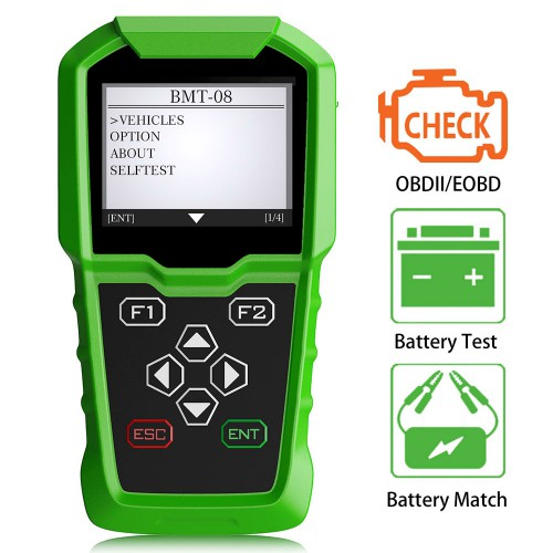 [Clearance Price No Return] OBDSTAR BMT-08 12V/24V 100-2000 CCA 220AH Automotive Load Battery Tester and Car Battery OBD2 Match Tool