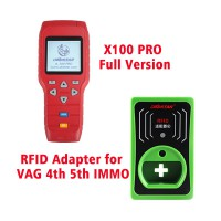 DHL Free Shipping! OBDSTAR X-100 PRO Auto Key Programmer (C+D+E) Type Plus RFID Adapter for VW AUDI SKODA SEAT