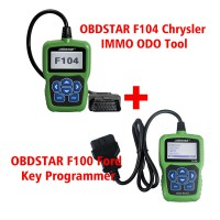 OBDSTAR F100 Key Programmer for Mazda Ford plus OBDSTAR F104 IMMO Mileage Correction for Chrysler Jeep Dodge